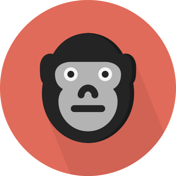 Gorilla svg #7, Download drawings