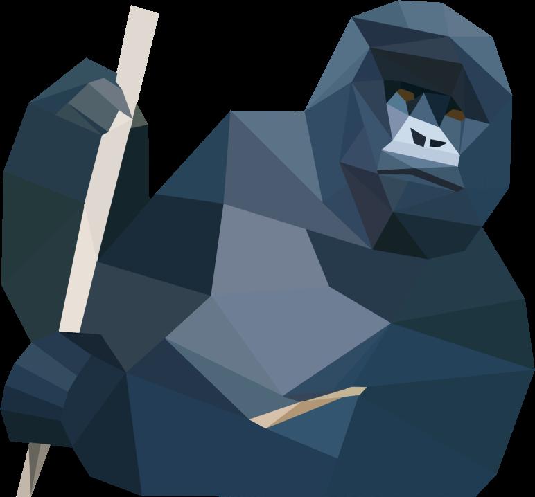 Gorilla svg #3, Download drawings