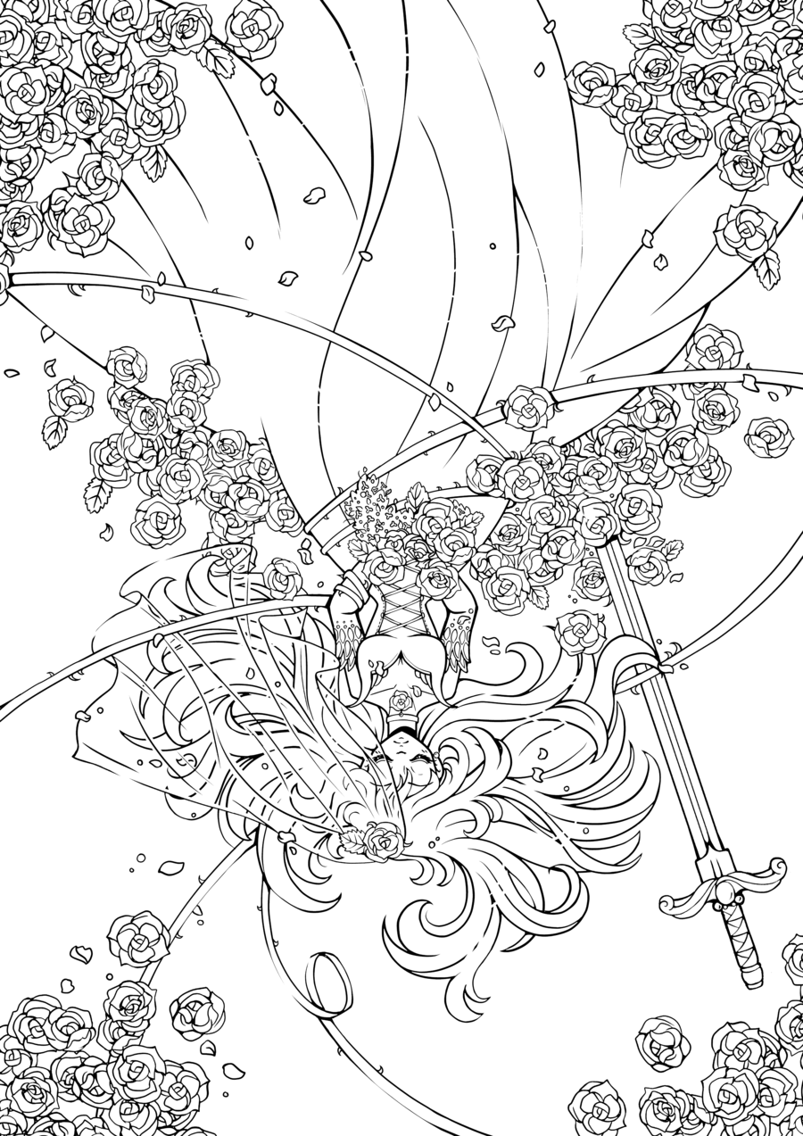 Gothic 4 coloring #3, Download drawings