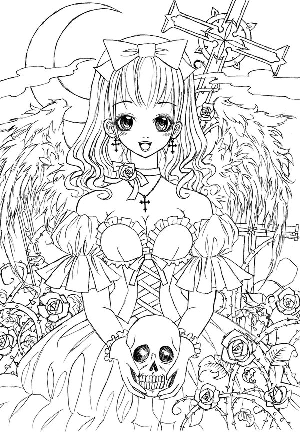 Gothic coloring #16, Download drawings