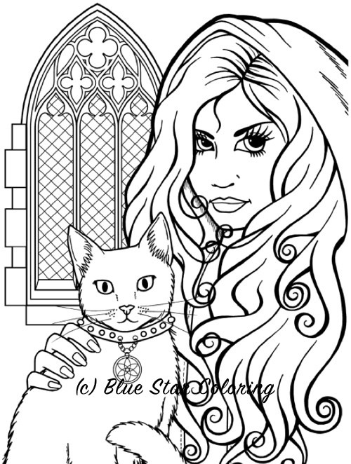 Gothic coloring #1, Download drawings