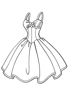 Gown coloring #12, Download drawings
