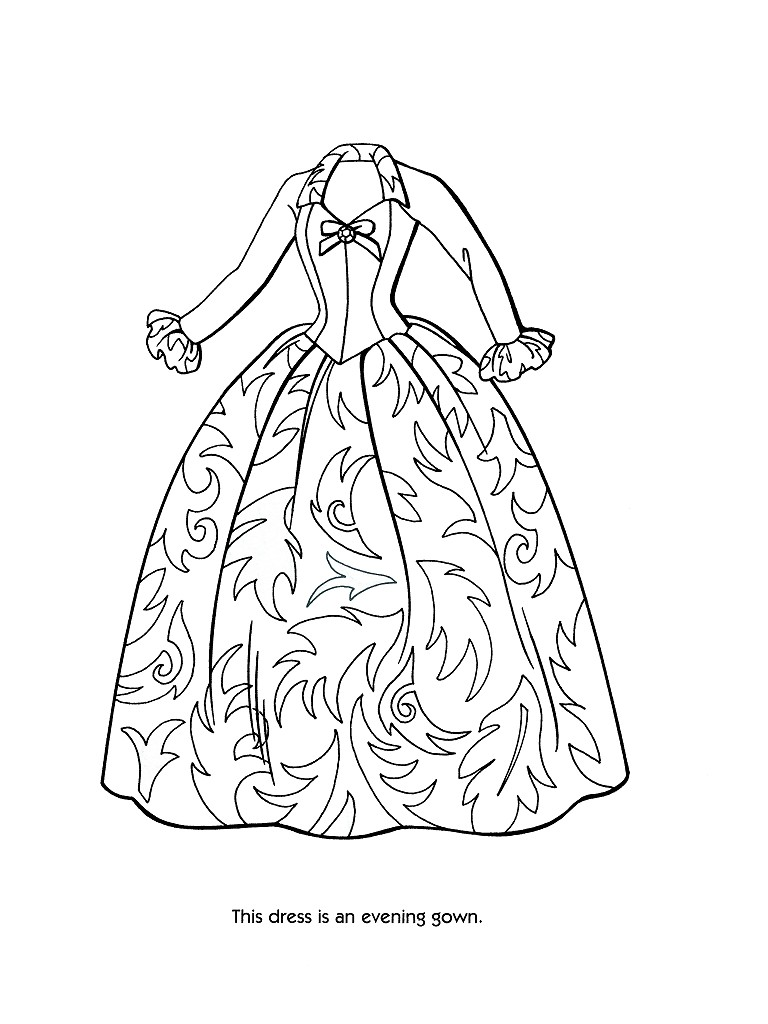 Gown coloring #7, Download drawings