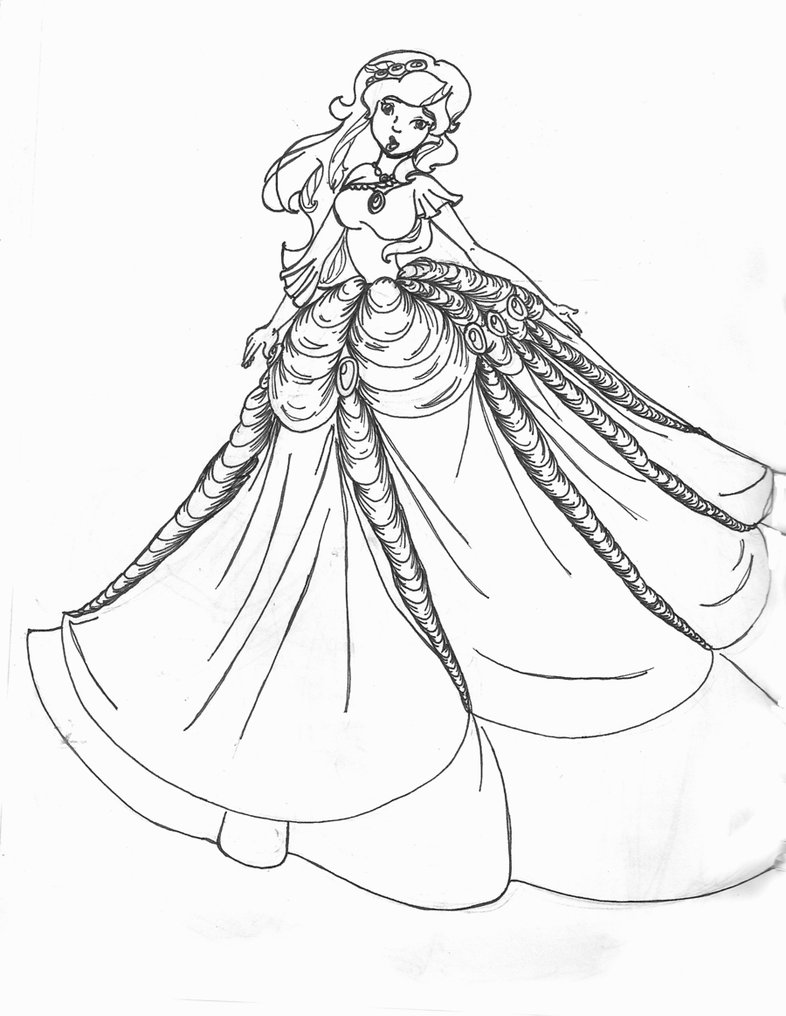 Gown coloring #6, Download drawings