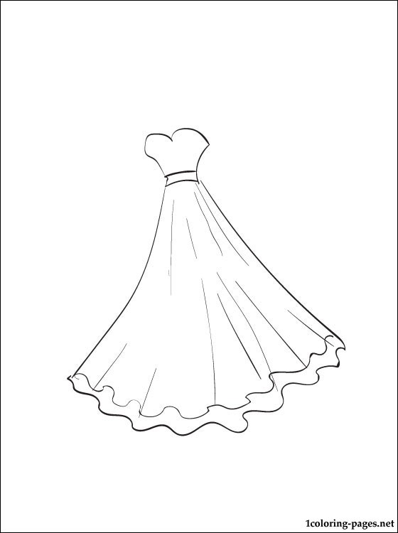 Gown coloring #4, Download drawings