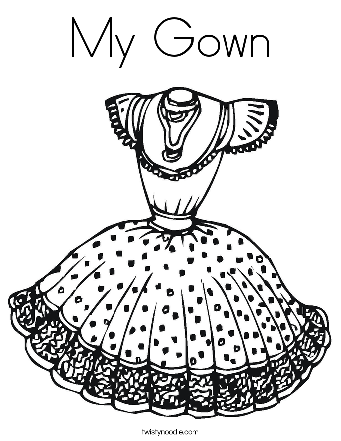 Gown coloring #19, Download drawings