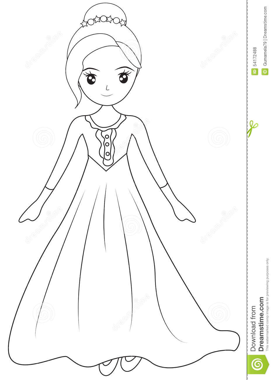 Gown coloring #1, Download drawings