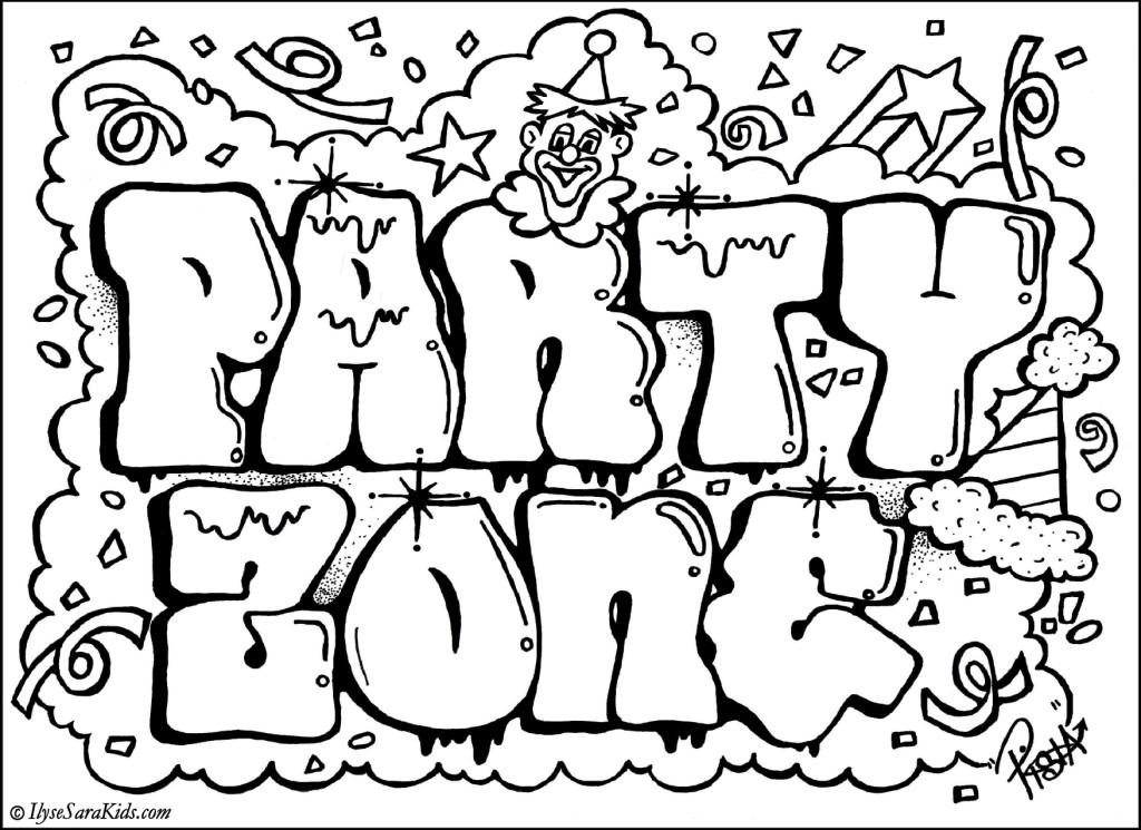 Graffiti coloring #4, Download drawings
