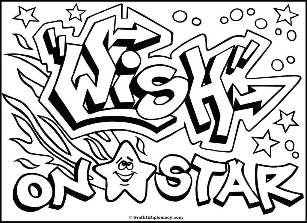 Graffiti coloring #11, Download drawings