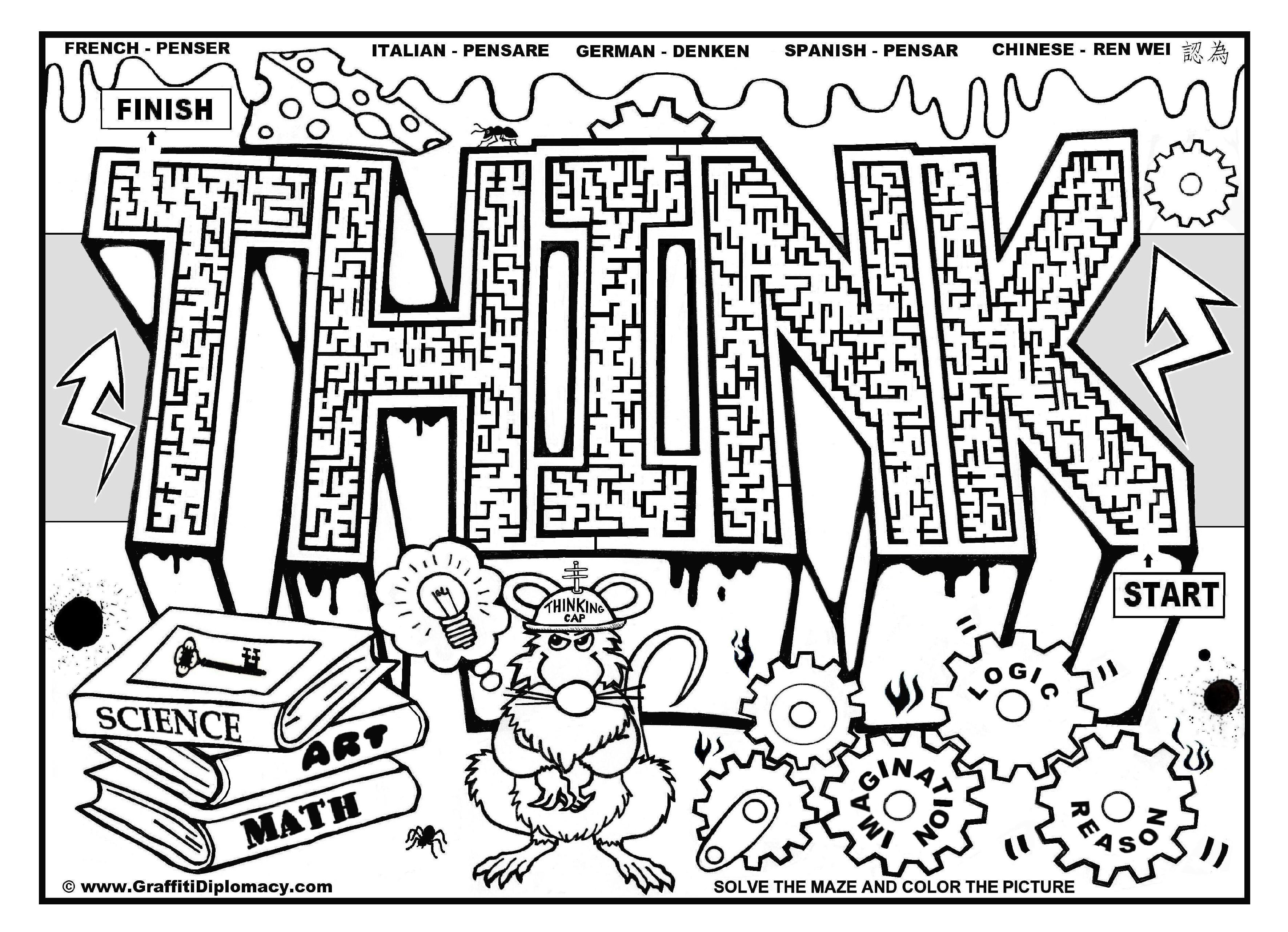 Graffiti coloring #1, Download drawings