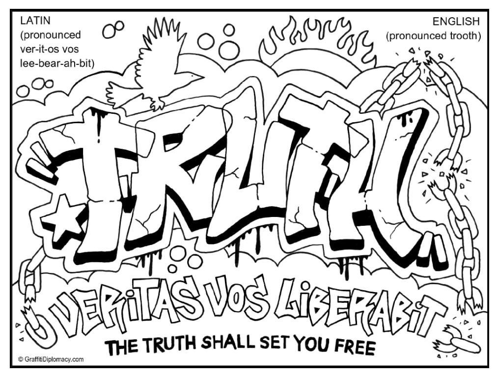 Graffiti coloring #6, Download drawings