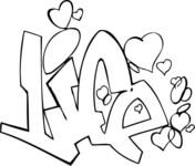 Graffiti coloring #10, Download drawings