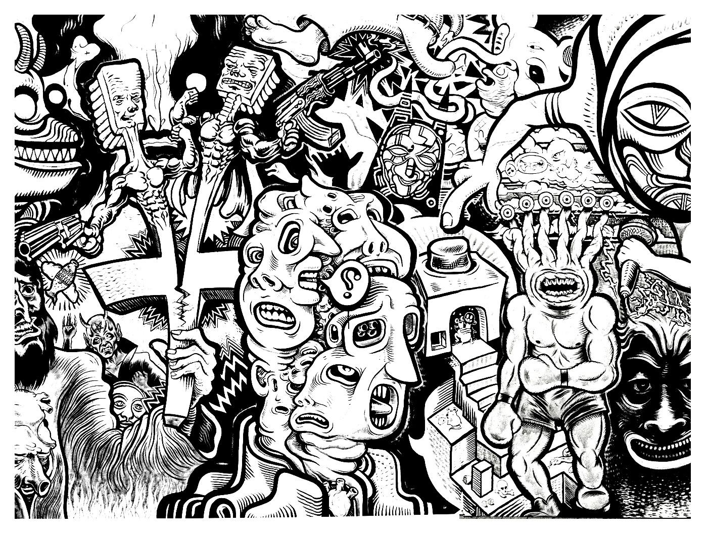 Graffiti coloring #5, Download drawings