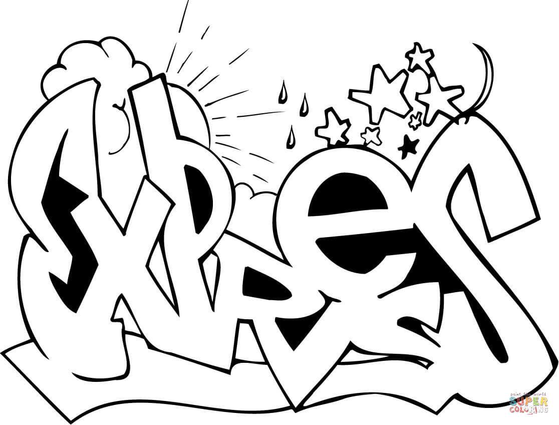 Graffiti coloring #16, Download drawings
