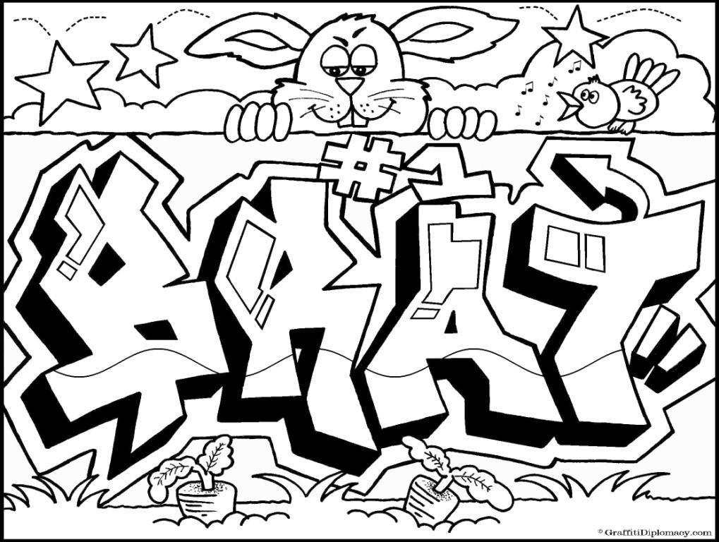 Graffiti coloring #18, Download drawings