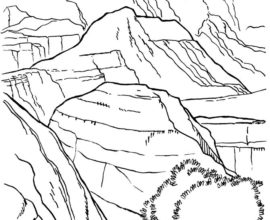 Grand Canyon coloring #2, Download drawings