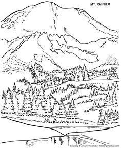 Mount McKinley coloring #2, Download drawings