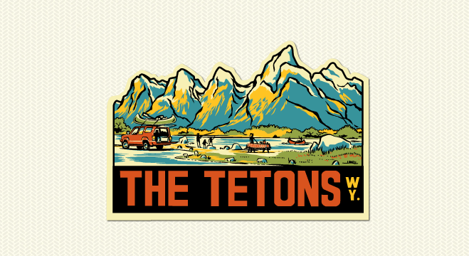 The Teton Range clipart #20, Download drawings