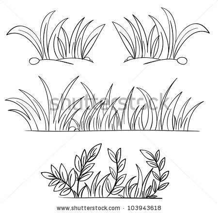 Grass coloring #14, Download drawings