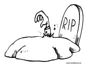 Graveyard coloring #6, Download drawings