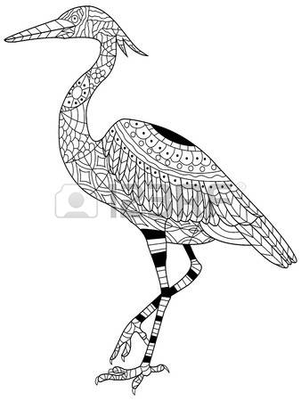 Gray heron coloring download gray heron coloring for Great blue heron coloring page