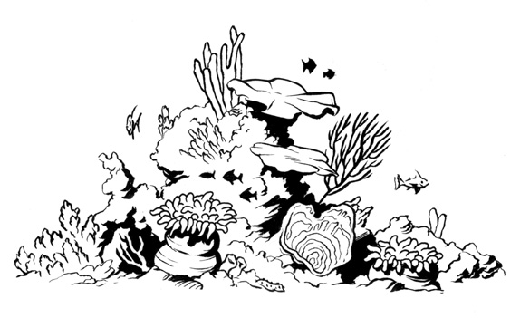 Great Barrier Reef coloring #4, Download drawings