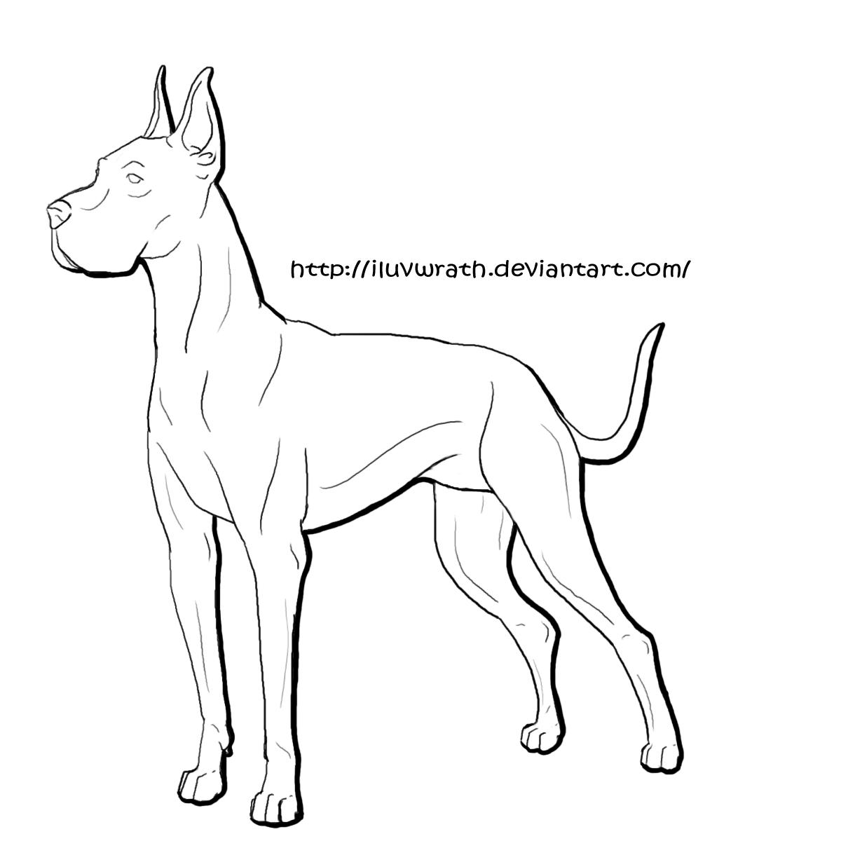 Great Dane coloring #13, Download drawings