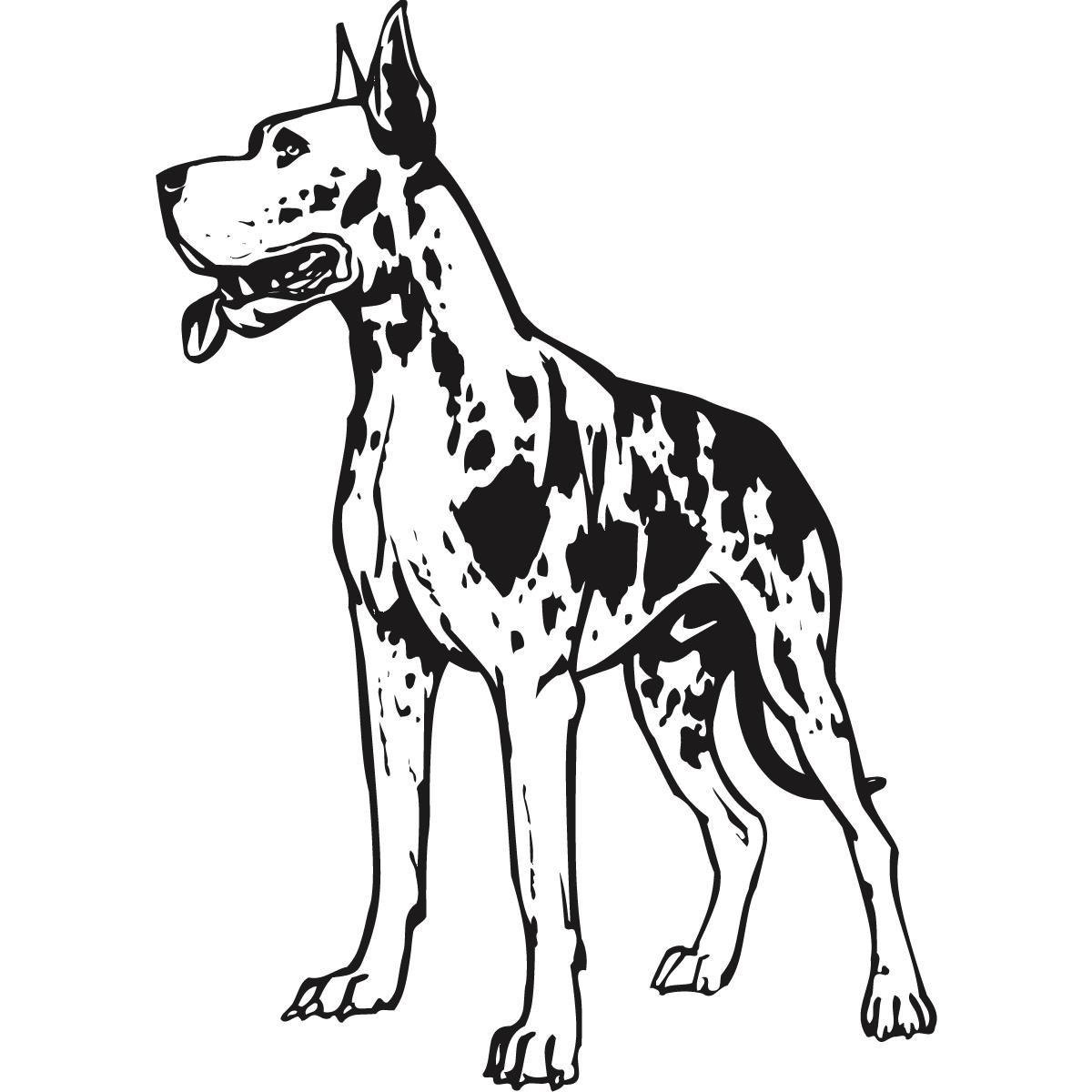 Great Dane coloring #4, Download drawings