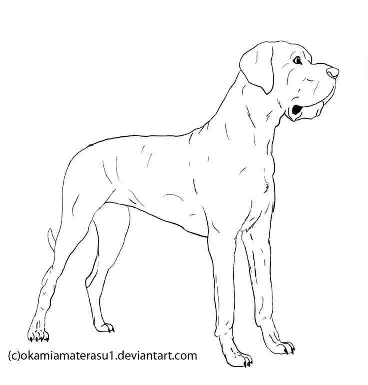 Great Dane coloring #8, Download drawings