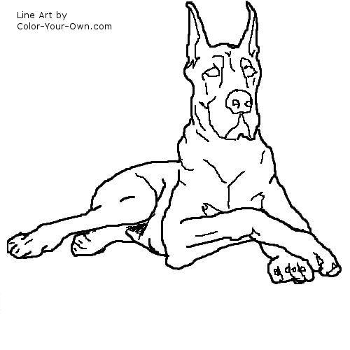 Great Dane coloring #19, Download drawings