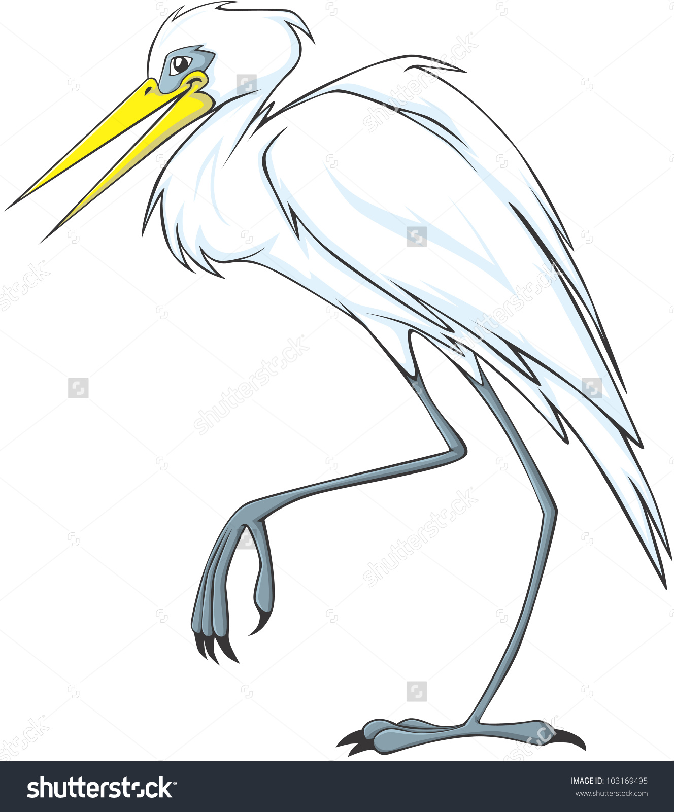 Great Egrets coloring #5, Download drawings
