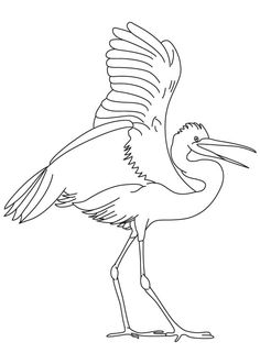 Great Egrets coloring #19, Download drawings
