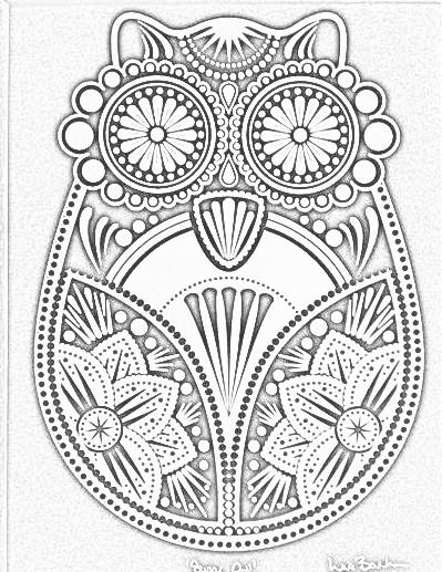 Great Gray Owl coloring #4, Download drawings