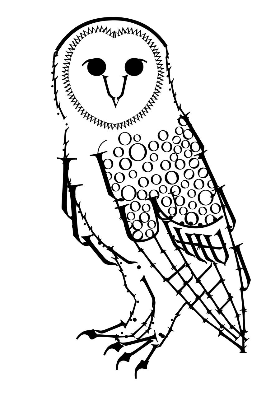 Great Gray Owl coloring #1, Download drawings