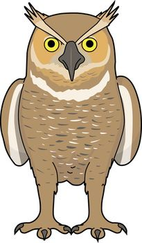 Horned Owl clipart #14, Download drawings