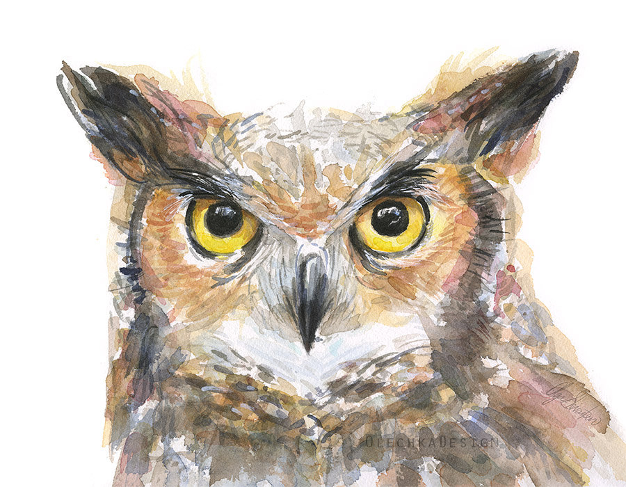 Great Horned Owl clipart #1, Download drawings