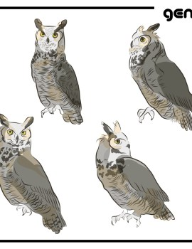 Great Horned Owl svg #7, Download drawings
