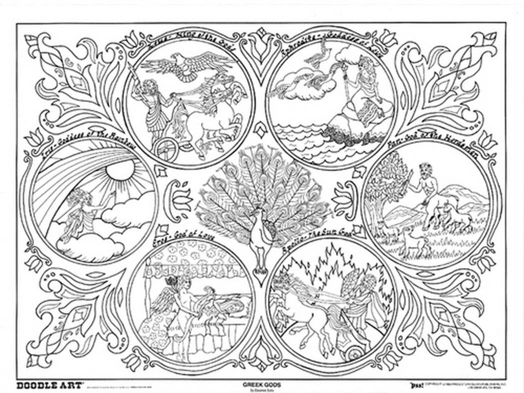 Greek Goddess coloring #1, Download drawings