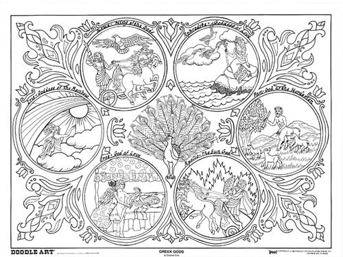 Greek Goddess coloring #5, Download drawings