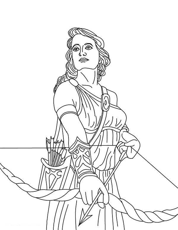 Greek Goddess coloring #2, Download drawings