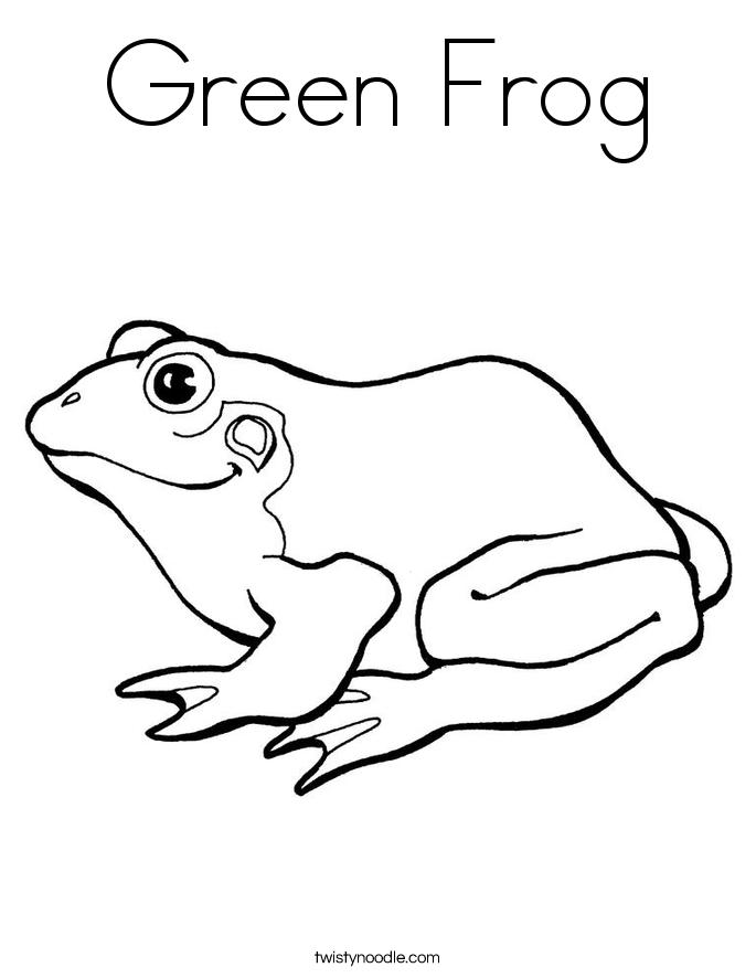 Green Frog coloring #17, Download drawings