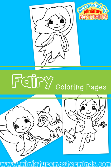 Green Fairy coloring #5, Download drawings
