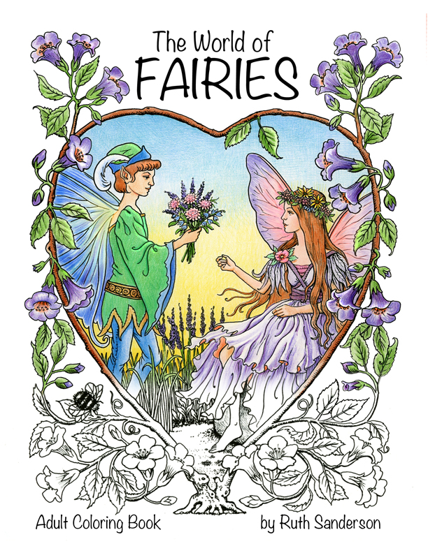 Green Fairy coloring #10, Download drawings