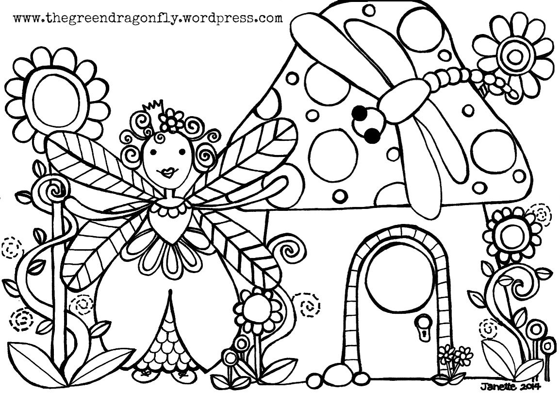 Green Fairy coloring #19, Download drawings