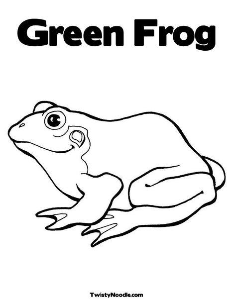 Green Frog coloring #9, Download drawings