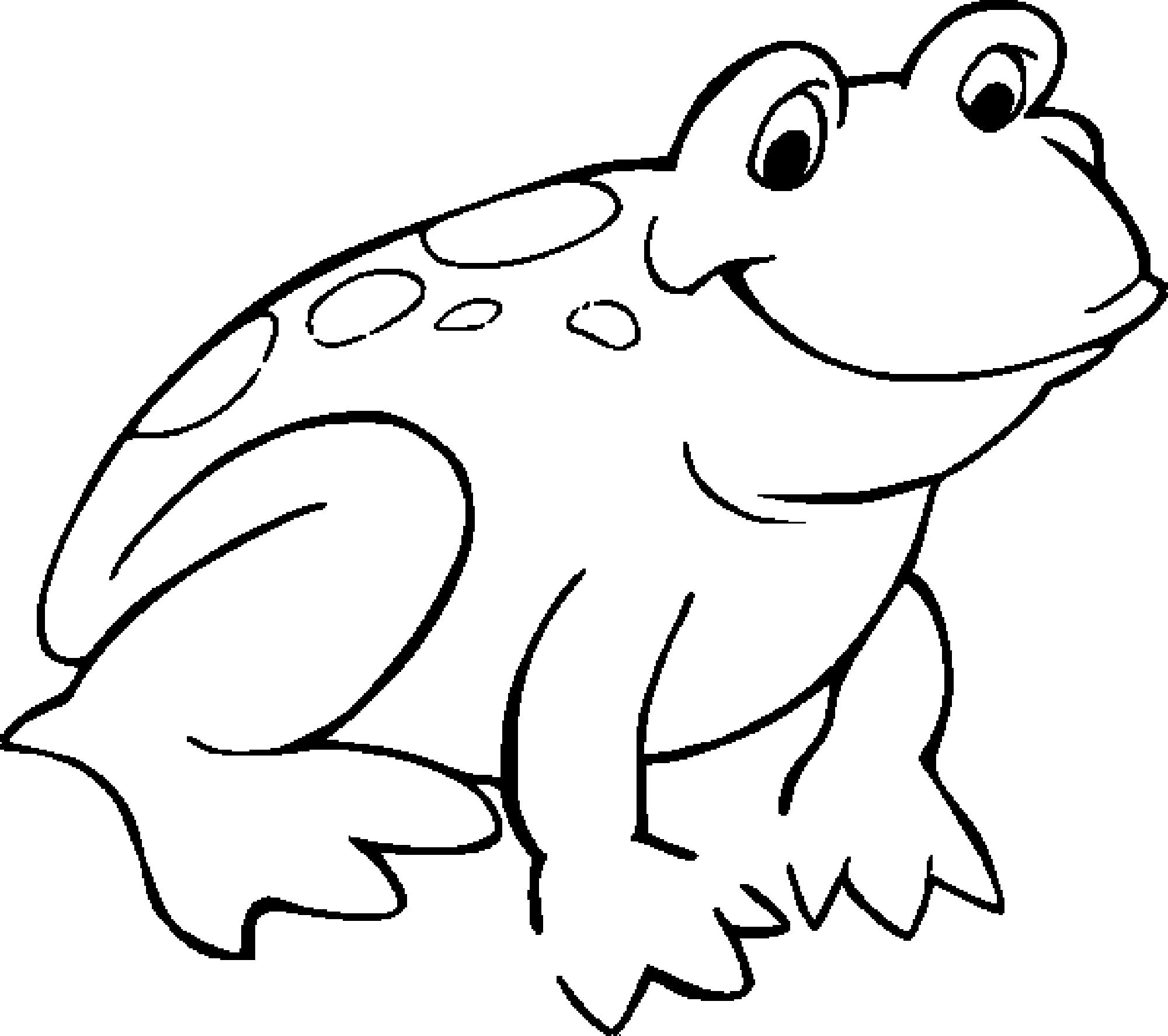 Green Frog coloring #4, Download drawings