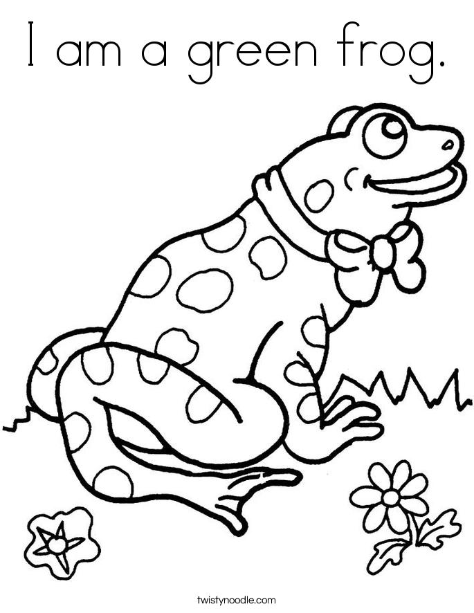 Green Frog coloring #14, Download drawings