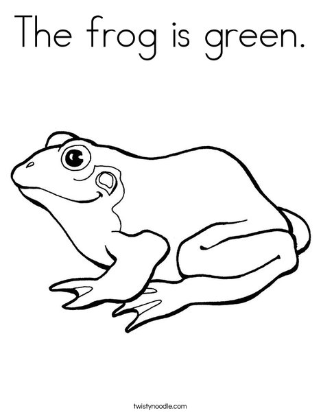 Green Frog coloring #16, Download drawings