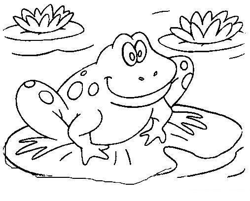 Green Frog coloring #13, Download drawings