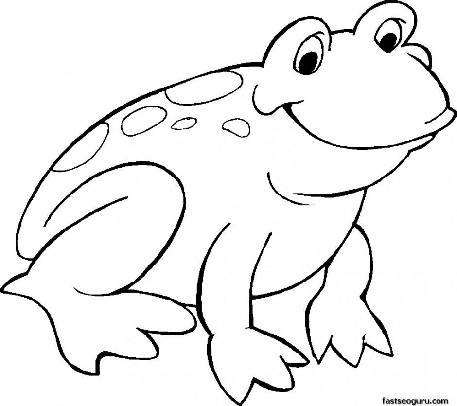 Green Frog coloring #11, Download drawings